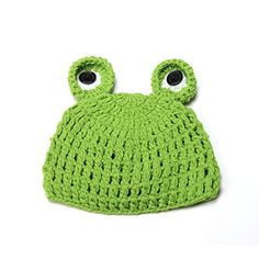 Elee Newborn Baby Handmade Crochet Knit Cap Photography Prop Hat Frog (Frog) ** Click image for more details.