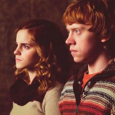 Hermione and Ron - strength, determination and loyalty.
