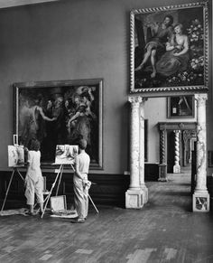 Art students copying a Peter Paul Rubens painting at the John and Mable Ringling Museum of Art in Sarasota (1947). | Florida Memory