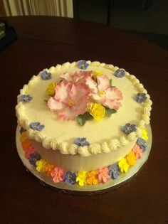 Cake for Course 4 -Advanced Gum Past Flowers at Michaels in Stockton, CA  #wiltoncontest