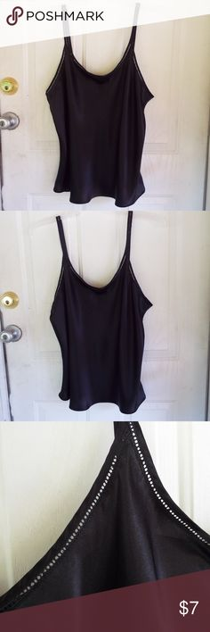lingerie top silk black XL