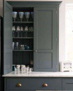 """704 Likes, 8 Comments - deVOL Kitchens (@devolkitchens) on Instagram: """"Beautiful Classic cabinets filled with beautiful things 😍 #devolkitchens"""""""