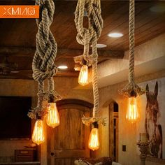 New original Vintage industrial pendant lights hemp rope retro bulb holder wicker pendant lights hotel bar lamp free shipping-in Pendant Lights from Lights & Lighting on Aliexpress.com | Alibaba Group