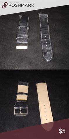 27135f214d692 Men's Charcoal colored 22mm watch strap -Has very minimal signs of use.  -Charcoal