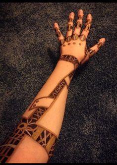 drawing art tattoos hand tattoo ink doodle pen steampunk Robot ...