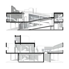 Discover recipes, home ideas, style inspiration and other ideas to try. Le Corbusier Architecture, Stairs Architecture, Interior Architecture, Villa Savoye Plan, Big Architects, France, Architectural Section, Weekend House, Topography Map