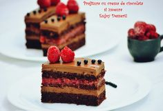 Chocolate cake and raspberries How To Make Chocolate, Chocolate Cake, Raspberry Chocolate, Cake Receipe, Tiramisu, Waffles, Cheesecake, Dinner Recipes, Food And Drink