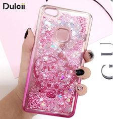 DULCII Case for Huawei P10 Lite P10lite Liquid Glitter Flash Powder Electroplating Edge Soft TPU Smartphone Cover Butterfly