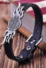 Harley Davidson Women's Brown Or Black Leather Bracelet