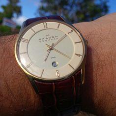 Took the Skagen out today.  @skagendenmark #wotd #womw #TagsForLikes #TFLers @TagsForLikes #watch #timepiece #wristporn #watchgramm #wristshot #wristswag #wristgame #watchfam #wristwatch #watchesofinstagram #dailywatch #watches #watchgeek #watch nerd #instagood #igers #instalike #picoftheday #follow #me #swag #photooftheday #style #love #time #instadaily
