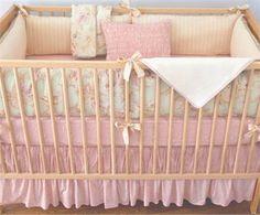 option....Celery Odile Girls Crib Bedding - 3 Piece Set