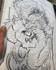 Dragon - Famous Last Words Japanese Dragon Tattoos, Japanese Tattoo Art, Japanese Sleeve Tattoos, Japanese Art, Kunst Tattoos, Tattoo Drawings, Body Art Tattoos, Wolf Tattoos, Dragon Sleeve Tattoos