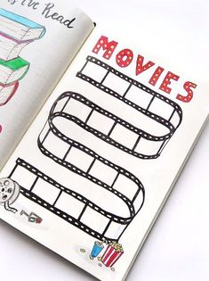 Bullet Journal movie tracker Bullet Journal movie tracker,Möööp Keep track of all the movies you've watched in your Bullet Journal! Or make a list of the movies you want to see and check them. Bullet Journal School, Bullet Journal Tracker, Bullet Journal Blog, Bullet Journal Films, Bullet Journal Writing, Bullet Journal Aesthetic, Bullet Journal Ideas Pages, Bullet Journal Spread, Journal App