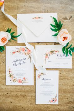 Feminine Summer Garden Wedding - Style Me Pretty Garden Wedding Invitations, Wedding Invitation Inspiration, Wedding Invitation Design, Wedding Stationary, Wedding Paper, Floral Wedding, Wedding Cards, Our Wedding, Wedding Inspiration