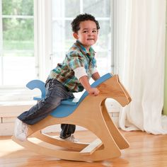 Rockin' Horse Project - Lowe's Creative Ideas Possibly for C-man's Christmas? Wood Projects For Kids, Diy Projects To Try, Dream Kids, Wood Games, Woodworking For Kids, Patterned Sheets, Wood Toys, Handmade Decorations, Kids Furniture