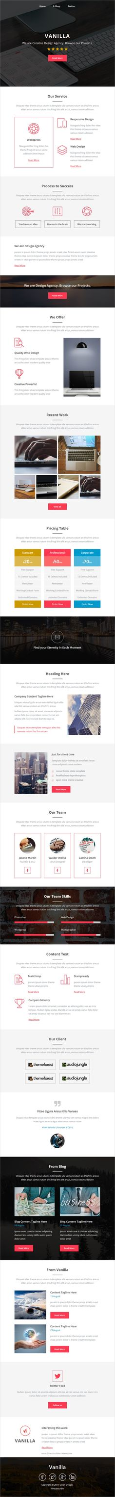 Vanilla is clean and modern design responsive #email #newsletter template for viral #marketing with stampready builder download now..