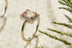 He works with precious stones to create unique engagement rings, wedding rings and other jewellery. Stonechat, Irish Jewelry, Morganite Ring, Emerald Cut, Art Deco Fashion, Beautiful Rings, 1920s, Halo, Centre
