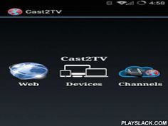Cast2TV-LITE(ChromeCast Etc)  Android App - playslack.com , Cast Video(Including Live Video*), Audio(Including Live Audio*) and Photo from Web, Local Device and Digital Media Servers(DLNA/UPNP) to ChromeCast, DLNA Media Renderer(Like XBMC, Smart TV/Bluray players etc) and Air Play.Cast live tv / live streaming / live radio from websites/Plex plugins to Chromecast, XBMC, Apple TV, and Other DLNA devices, if supported by DLNA device. Some of the websites we tested are ustvnow, nimbletv…