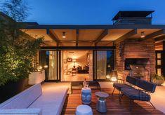 Midcentury penthouse apartment rehab boasts insane views over Seattle Penthouse Apartment, Seattle Apartment, Outdoor Spaces, Outdoor Decor, Home Goods, Deck, Mid Century, House Design, Mansions