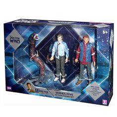 This is the Doctor Who Companions Set based on the 11th Doctor. This companions set is series 5 and feature three action figures. The Raggedy 11th Doctor, Rory Williams, and Prisoner Zero. The 11th Do