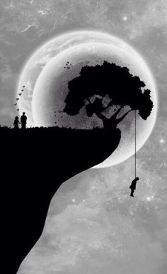 Same moon light, same cliff, but different situation.......
