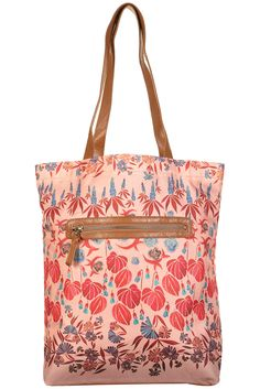 MULTI TROPICAL WATER PRINT SHOPPER  Price:$36.00 from TopShop