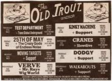 5th June 1993 Windsor, The Old Trout   The Slowdive Database