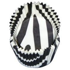 Black and white zebra Cupcake Baking Cup Liners by BigCatCrafts, $2.00