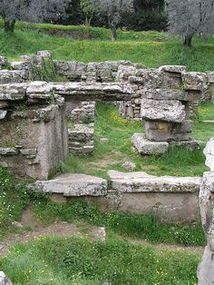 Fiesole - 4th century BC foundations of an Etruscan temple