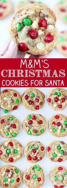 M&M's Christmas Cookies for Santa