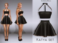 The Sims 4 Katya set by Best Sims, Sims 1, The Sims 4 Packs, The Sims 4 Cabelos, Sims 4 Dresses, Sims4 Clothes, The Sims 4 Download, Sims 4 Game, Sims 4 Clothing