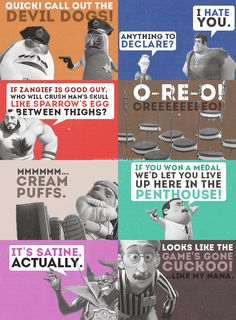 Some of the best quotes from Wreck-It Ralph.  My favorite is the Oreo one!  LMAO!