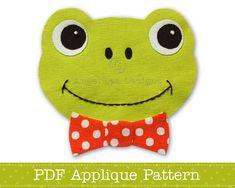 Frog Applique Pattern Frog Face Applique Template PDF Pattern