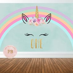 Digital Unicorn Birthday Party Backdrop Unicorn Backdrop