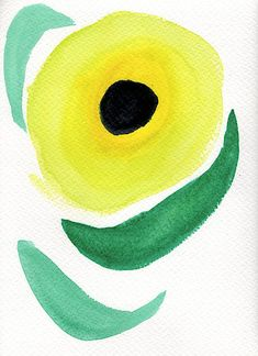 Buy Sunflower, a Watercolor Painting on Paper, by Bee-Bee Deigner from Austria, For sale, Price is $150, Size is 11.8 x 8.7 x 0 in. Bee Bee, Sunflower Art, Minimalist Painting, Floral Style, Is 11, Medium Art, Austria, Watercolor Paintings, Saatchi Art