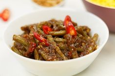 Sajoer boontjes Veggie Recipes, Asian Recipes, Ethnic Recipes, I Love Food, Good Food, Malaysian Food, Indonesian Food, No Cook Meals, Japchae