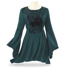 Renaissance Velvet Top - Women's Clothing & Symbolic Jewelry – Sexy, Fantasy, Romantic Fashions