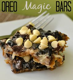 Oreo Magic Bars - Moments With Mandi