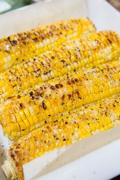Roasted corn on the cob Oven Baked Corn, Oven Roasted Corn, Baked Corn On Cob, Corn Oven, Veggie Recipes, Cooking Recipes, Fresh Corn Recipes, Corn Cob Recipes, Vegetarian Recipes