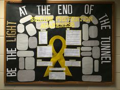 Suicide prevention awareness bulletin board
