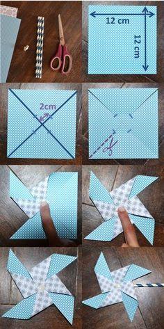 ¡Para decorar tu fiesta, te enseñamos como crear un molinillo de papel!