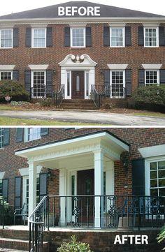 Front porch portico designs hip roof portico designed for Georgian front porch designs