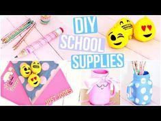 DIY Back to School Supplies: Pencil Case, Cord Taco & Mini Notebooks | Sea Lemon - YouTube