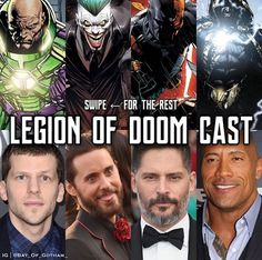 Legion of Doom fancast (1/2) Lex Luthor, Joker, Deathstroke, Black Adam