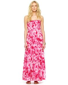 MICHAEL Michael Kors Printed Silk Maxi Dress. This gorgeous silk maxi dress has a fitted bodice and looks amazing on everyone! Visit MK at Kenwood Towne Center