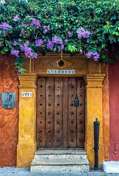 Doors of Cartagena Visit Colombia, Colombia Travel, Colombia South America, South America Travel, Places To Travel, Places To See, Fachada Colonial, Village House Design, House Painting