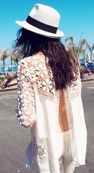White Lace Top With Open Back