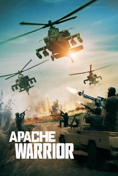 """Apache Warrior"" focuses on the U. Army helicopter crews in the war-torn countries of Iraq and Afghanistan. The film includes real-life footage of the crews providing transport, air cover and rescue. Hd Streaming, Streaming Movies, Hd Movies, Movies To Watch, Movies Online, Films, New Movie Posters, Original Movie Posters, Warrior Movie"