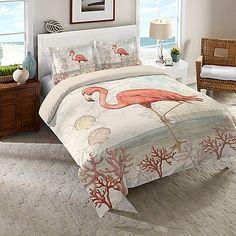 Laural Home® Coastal Flamingo Comforter