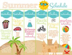 summer boredom blaster weekly schedule free printable- trying to figure out how to make this summer full of family memories and fun? this is perfect!